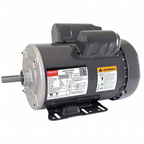 Dayton 1 1 2 hp general purpose motor capacitor start run for Dayton capacitor start motor