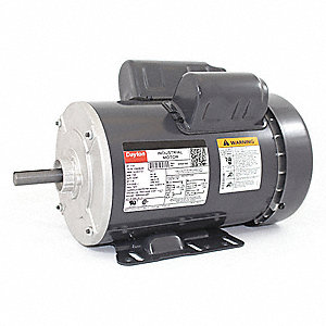 1-1/2 HP General Purpose Motor,Capacitor-Start/Run,1725 Nameplate RPM,Voltage 115/208-230,Frame 56H