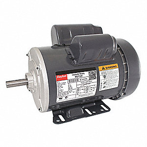 2 HP General Purpose Motor,Capacitor-Start/Run,3450 Nameplate RPM,Voltage 115/208-230,Frame 56H