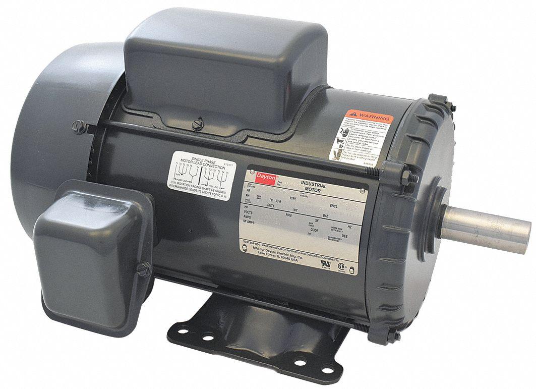 Dayton 3 Hp General Purpose Motorcapacitor Start Run1740 Nameplate Electric Motor Cw Ccw Wiring Diagram Rpmvoltage 115 230frame 184t 5k967 Grainger