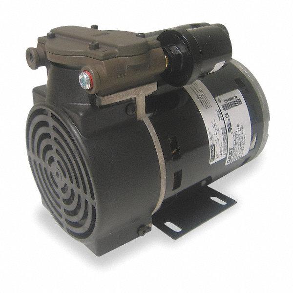 Gast 1 3 hp piston air compressor vacuum pump 115vac 100 for Gast air motor distributors