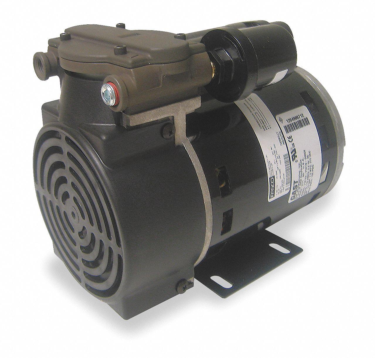 Gast 1 3 Hp Piston Air Compressor Vacuum Pump 115vac 100 100 Max Psi Cont Int 5ka76 71r142 P251 D300x Grainger