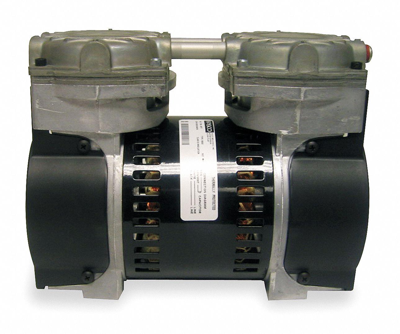 Gast 1 3 Hp Piston Air Compressor Vacuum Pump 115vac 30 30 Max Psi Cont Int 5ka77 75r635 P251 H301x Grainger