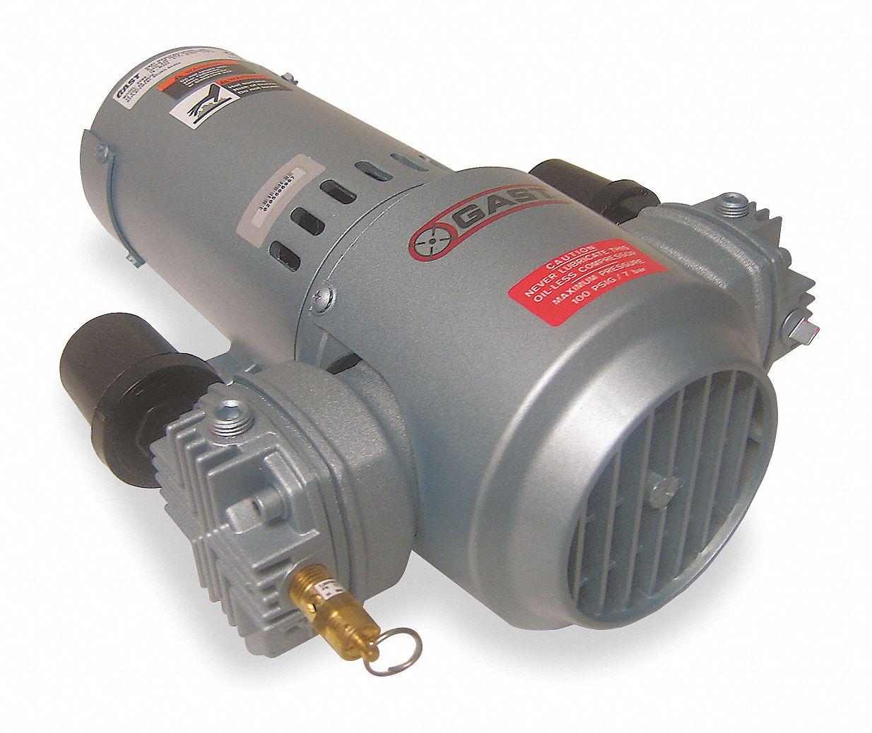 Gast 1 3 Hp Piston Air Compressor 12vdc 100 100 Max Psi Cont Int 5ka89 3hbb 251 M322 Grainger