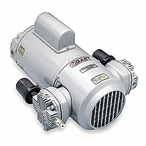 "8-7/8"" x 13-1/6"" x 12"" 115/230VAC Piston Air Compressor/Vacuum Pump"