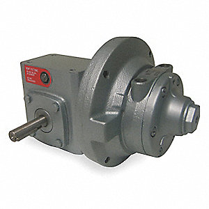 "11.38"" x 7.63"" x 7.13"" Base Mounted Air Gearmotor with 5/8"" Shaft Dia. and 1/4"" NPT Port Size"