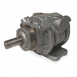 "9 Foot Mounted Air Motor with 1-1/8"" Shaft Dia. and 1-1/4"" NPT Port Size"