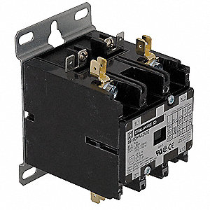 120VAC Definite Purpose Contactor&#x3b; No. of Poles 2, Reversing: No, 30 Full Load Amps-Inductive