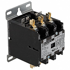 480VAC Definite Purpose Contactor; No. of Poles 3, Reversing: No, 20 Full Load Amps-Inductive