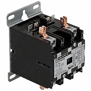 208/240VAC Open Definite Purpose Contactor, 40 Full Load Amps-Inductive, 2 Number of Poles