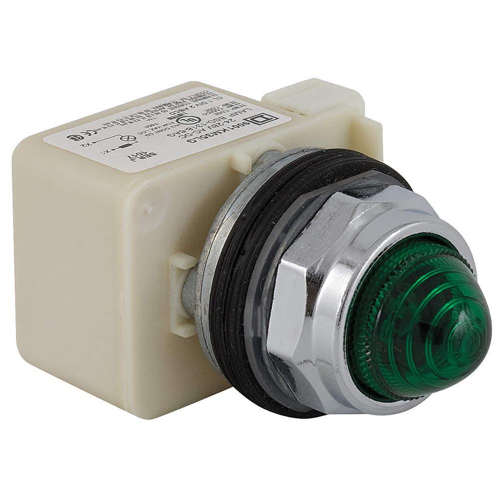 SCHNEIDER ELECTRIC Pilot Light Complete, 30mm, 120VAC Voltage, Lamp ...