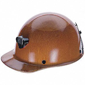 Front Brim Hard Hat, 4 pt. Pinlock Suspension, Natural Tan, Hat Size: 6-1/2 to 8