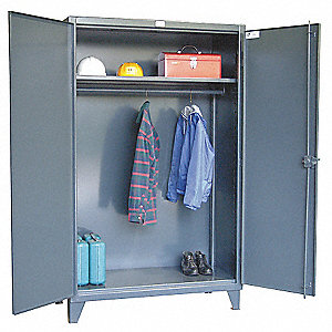 "Storage Cabinet, Dark Gray, 78"" Overall Height, Assembled"