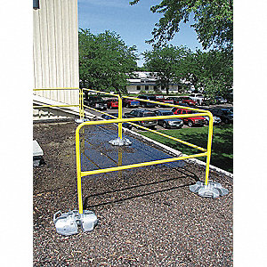 Guardrail,120 In. L,Yellow,Alloy Steel