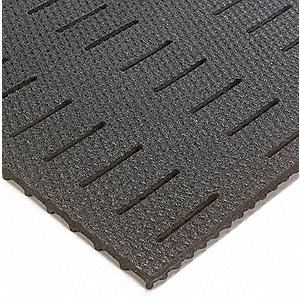 "Drainage Mat, 5 ft. L, 3 ft. W, 3/8"" Thick, Rectangle, Black"