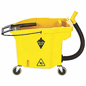 8-3/4 gal. Yellow Polypropylene Mop Bucket, 1  EA