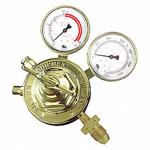 "Professional SR460A-510 Series Gas Regulator, 2 to 15 psi, 3.500"", Acetylene"