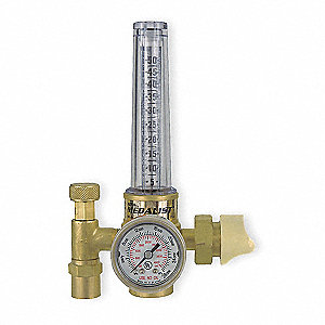 "HRF1425-580 Series Flowmeter Regulator, 25 psi, 1.500"", Argon, Carbon Dioxide"