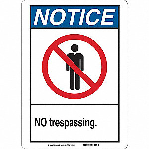 Notice Sign,10 x 7 In.,Plastic