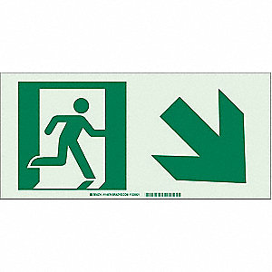 "Directional Sign,5"" x 14"",Polyester"