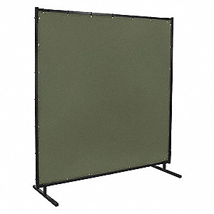 Welding Screen,6 ft. W,6 ft.,Olive