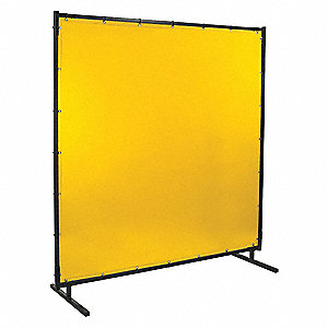 Welding Screen,6 ft. W,6 ft.,Yellow