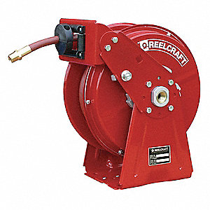 "1/4"", 35 ft. Spring Return Hose Reel, 300 psi Max. Pressure"
