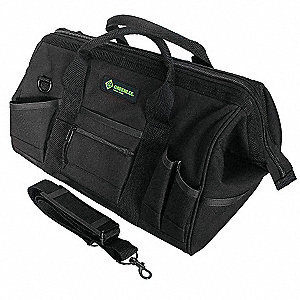 Canvas Tool Bag Width, Number of Pockets: 31, Black