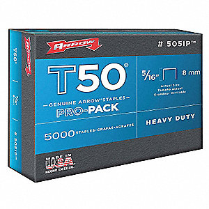 Staples,T50,3/8x5/16 In L,PK5000