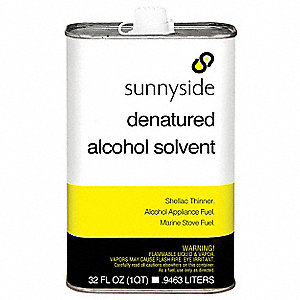 Denatured Alcohol Solvent,1 qt.