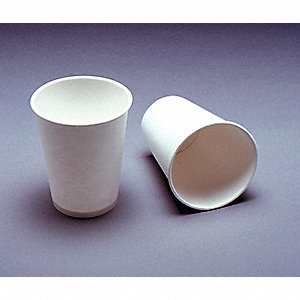 5 oz. Disposable Hot Cup, Plastic Coated Paper, White, PK 2500
