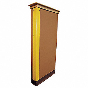 Corner Guard,Yellow,1x48in,Hardware FR