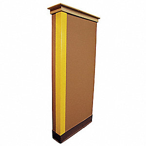 Corner Guard,Yellow,2x48in,Adhesive