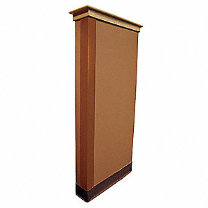 Corner Guard,Bronze,2x48in,Adhesive
