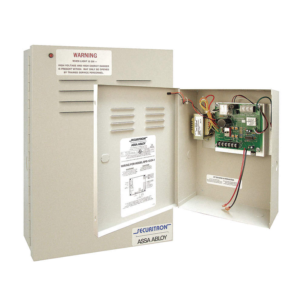 Securitron Assa Abloy BPS-24-1 Charger//Power Supply 24VDC w//Fire Alarm Interface