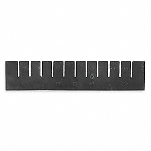 "Short Divider, Black, Industrial Grade Polymer, 15-3/8"" Length, 9-2/5"" Height"