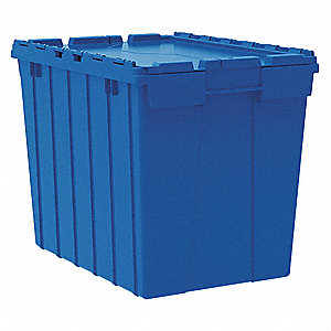 Akro Mils Attached Lid Container Blue 17 Quot H X 21 1 2 Quot L X