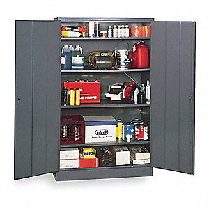 "Storage Cabinet, Gray, 78"" Overall Height, Unassembled"