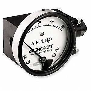 Pressure Gauge,0 to 200 In H2O