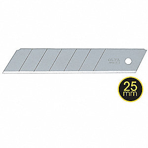 "4-29/32"" x 25mm Carbon Steel Snap-Off Blade&#x3b; PK20"