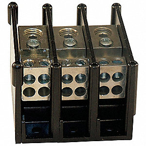 Distribution Block, Primary Connections/Pole: 1, Primary Wire Range (AWG): 14 to 2/0