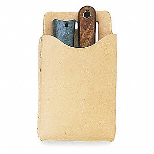 "All Purpose Pouch, Tan Top Grain Leather, 7-1/2"" Height, 4-1/4"" Width"