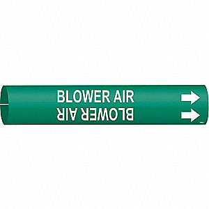 Pipe Marker,Blower Air,Green,4 to 6 In