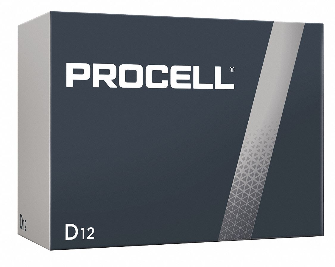 Procell D D Battery,  Alkaline,  Everyday,  1.5V DC,  PK 12