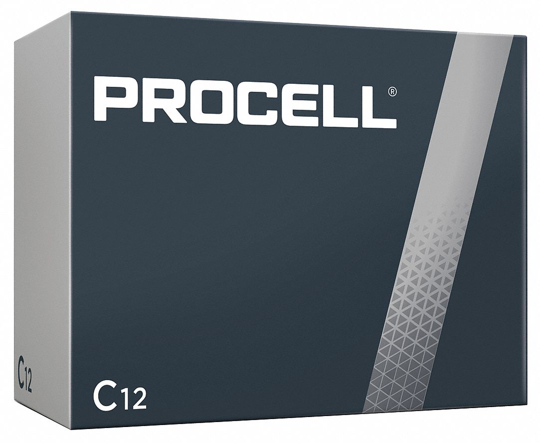 Procell,  C Battery,  Alkaline,  Everyday,  1.5V DC,  PK 12