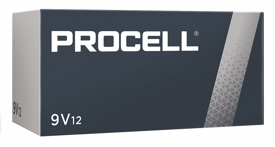 Procell 9V 9V Battery,  Alkaline,  Everyday,  9V DC,  PK 12