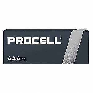 Procell AAA Battery,  Alkaline,  Everyday,  1.5VDC,  PK 24
