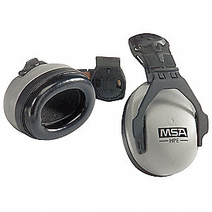 27dB Hard Hat Mounted Ear Muffs, Gray