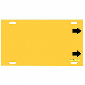 Pipe Marker,(Blank),Yellow,10 to 15 In