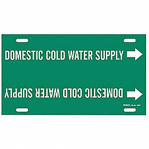 Pipe Marker,Domestic Cold Water Supply
